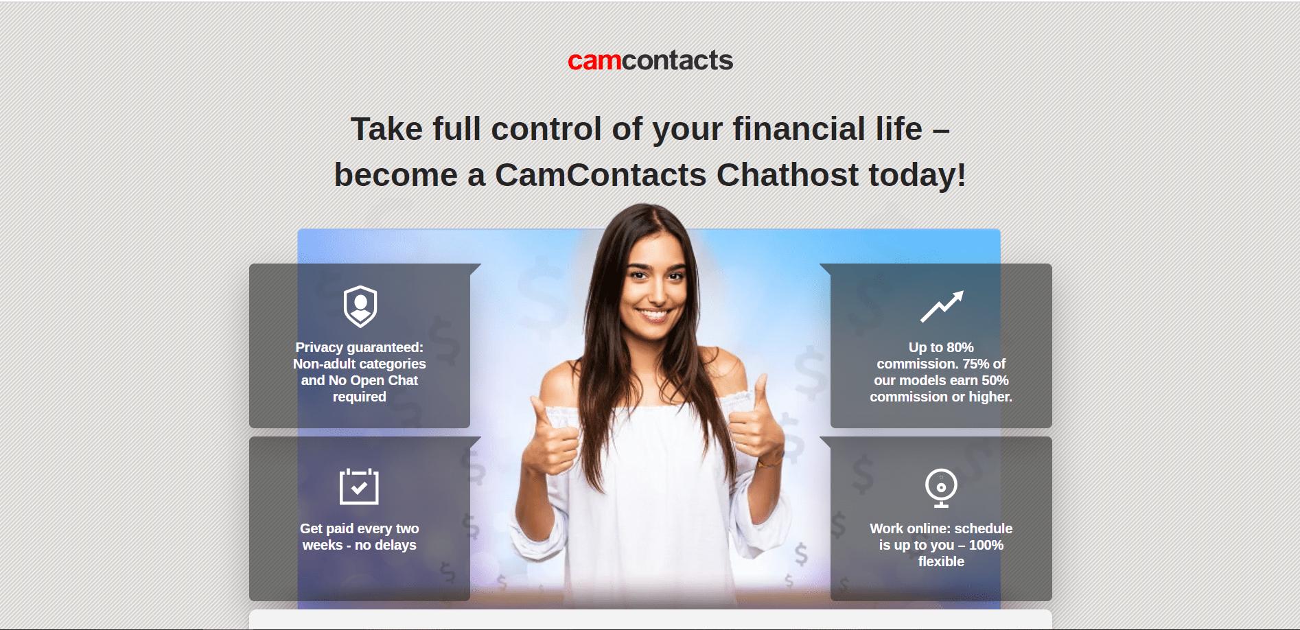 Вебкам сайт Camcontacts