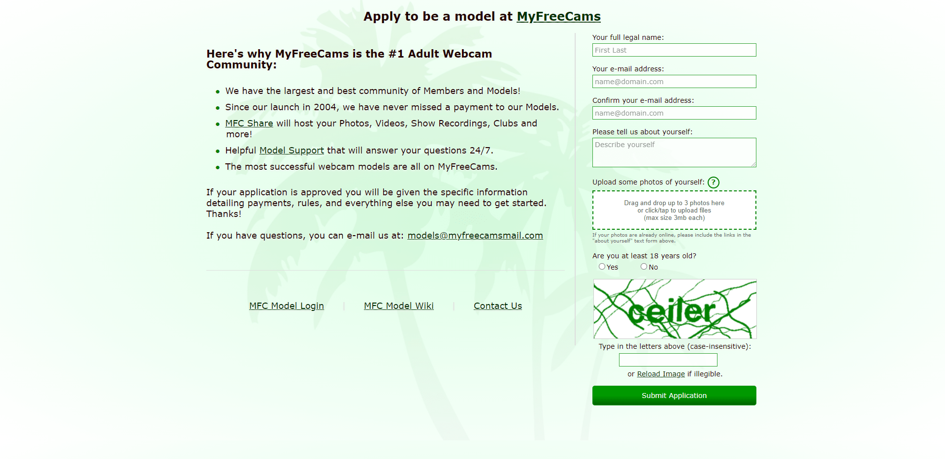 Вебкам сайт MyFreeCams